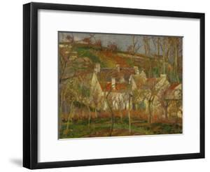 Red Roofs, a Village Corner, Winter, 1877 by Camille Pissarro