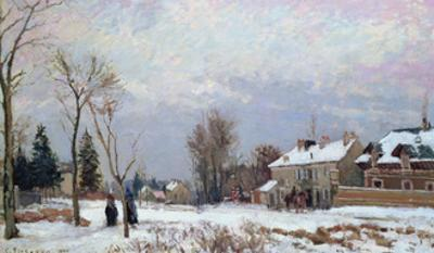 Road from Versailles to Saint-Germain, Louveciennes, and Effects of Snow, 1872