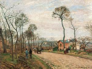 Road to Louveciennes by Camille Pissarro
