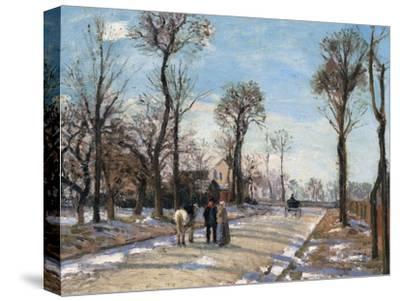 Route De Versailles, Louveciennes, Winter Sun and Snow, C. 1870