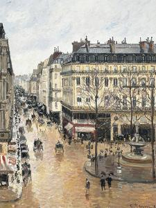 Rue Saint-Honoré in the Afternoon, Effect of Rain, 1897 by Camille Pissarro
