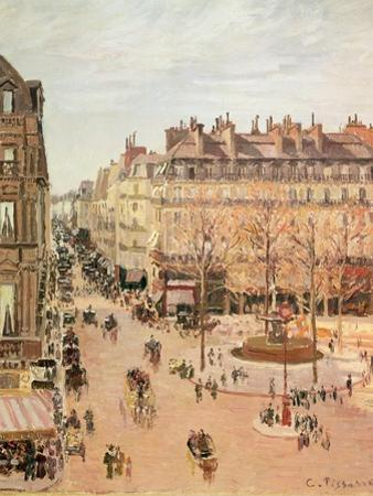 Rue Saint-Honore, Sun Effect, Afternoon, 1898 by Camille Pissarro