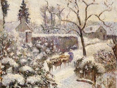 Snow at Montfoucault, 1891 by Camille Pissarro