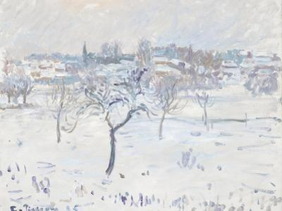 Snowy Landscape at Eragny with an Apple Tree, 1895