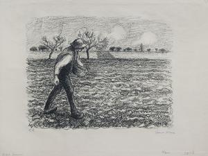 Sower, 1896 by Camille Pissarro