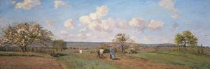 Spring, 1872 by Camille Pissarro