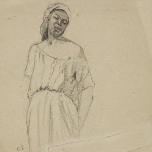 Study of a Negress by Camille Pissarro