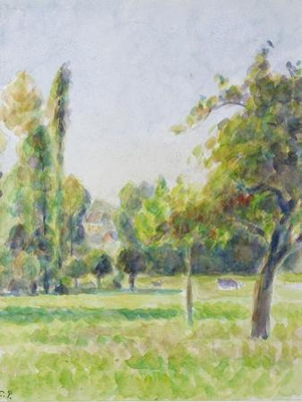 Study of the Orchard of the Artist's House at Eragny-Sur-Epte, C. 1890 by Camille Pissarro