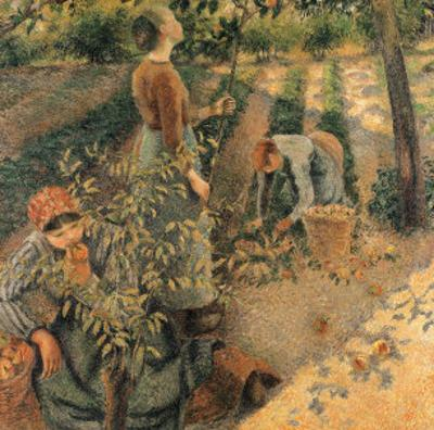 The Apple Pickers, 1886 by Camille Pissarro