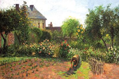 The Artist Garden at Eragny by Camille Pissarro