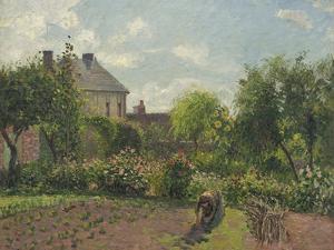 The Artist's Garden at Eragny, 1898 by Camille Pissarro