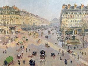 The Avenue De L'Opera, Paris, circa 1880 by Camille Pissarro
