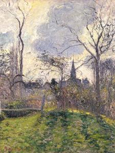 The Bell Tower of Bazincourt, 1885 by Camille Pissarro