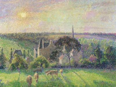 The Church and Farm of Eragny, 1895 by Camille Pissarro