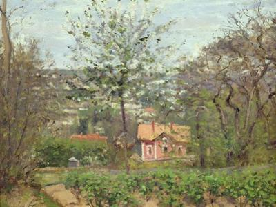 The Cottage, or the Pink House - Hamlet of the Flying Heart, 1870 by Camille Pissarro