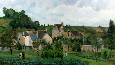 The Hermitage in Pontoise, 1867 by Camille Pissarro