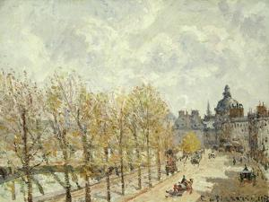 The Malaquais Quay in the Morning, Sunny Weather, 1903 by Camille Pissarro