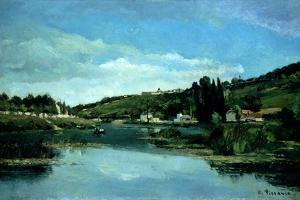 The Marne at Chennevieres, C.1864-65 by Camille Pissarro