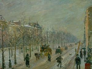 The Outer Boulevards: Snow, 1879 by Camille Pissarro