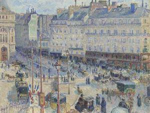 The Place Du Havre, Paris, 1893 by Camille Pissarro
