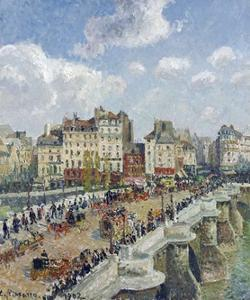 The Pont-Neuf, Paris by Camille Pissarro