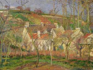 The Red Roofs, or Corner of a Village, Winter, 1877 by Camille Pissarro