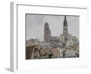 The Roofs of Old Rouen, Grey Weather, 1896 Cathedral by Camille Pissarro