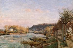 The Seine at Bougival, 1870 by Camille Pissarro