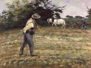 The Sower, Montfoucault, 1875 by Camille Pissarro