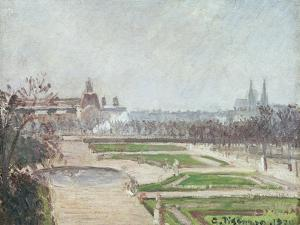 The Tuileries Gardens and the Louvre by Camille Pissarro