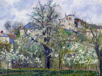 The Vegetable Garden with Trees in Blossom, Spring, Pontoise, 1877