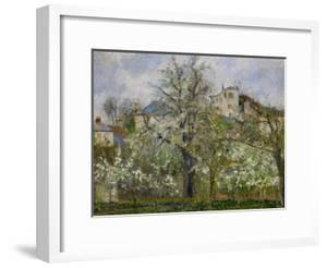 Trees and Flowers, Spring at Pontoise, 1877 by Camille Pissarro
