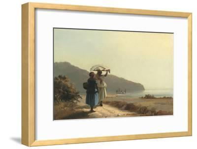 Two Women Chatting by the Sea, St. Thomas, 1856