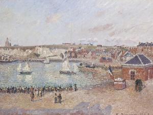 Vue de l'avant-port de Dieppe by Camille Pissarro