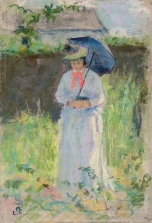 Woman with a Parasol by Camille Pissarro