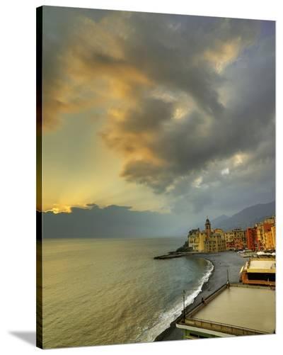Camogli Sunset II-Richard Desmarais-Stretched Canvas Print