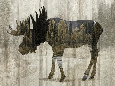 Camouflage Animals - Moose-Tania Bello-Giclee Print