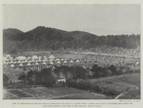 Camp at Wellington of the New Zealand Contingent for Service in South Africa--Giclee Print