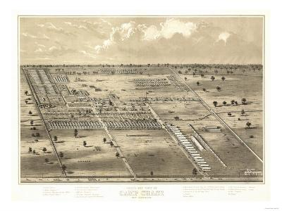 Camp Chase, Ohio - Panoramic Map-Lantern Press-Art Print