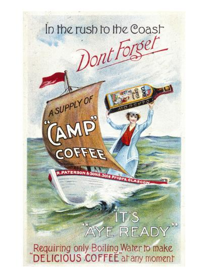 Camp Coffee - Delicious Coffee at Any Moment--Giclee Print