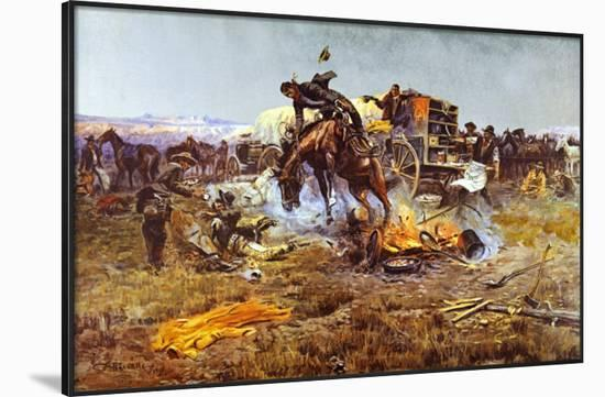 Camp Cook's Troubles-Charles Marion Russell-Framed Art Print