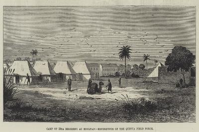 Camp of 59th Regiment at Mooltan, Rendezvous of the Quetta Field Force--Giclee Print