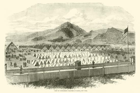 Camp of Confederate Prisoners at Elmira, New York, May 1865--Giclee Print
