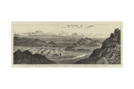 Camp of the First Leicestershire Volunteers at Hanging Rocks, Charnwood Forest--Giclee Print