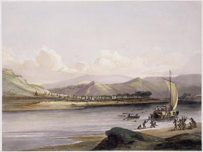 Camp of the Gros Ventres of the Prairies on the Upper Missouri-Karl Bodmer-Giclee Print