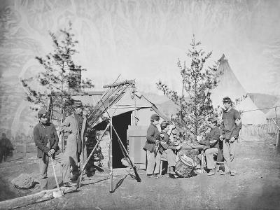 Camp Scene During the American Civil War-Stocktrek Images-Photographic Print