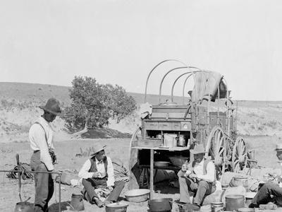 Camp Wagon on a Texas Roundup--Photo