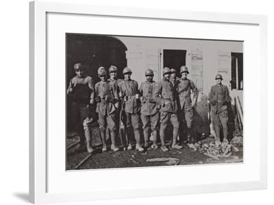 Campagna Di Guerra 1915-1916-1917-1918: Bersaglieres to the Mill Sega--Framed Photographic Print