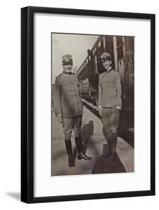 Campagna Di Guerra 1915-1916-1917-1918: Jack Bosio in Uniform with an Officer in Udine