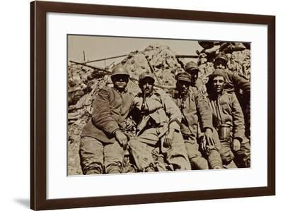 Campagna Di Guerra 1915-1916-1917-1918: Soldiers in the Trench at an Altitude of 21--Framed Photographic Print